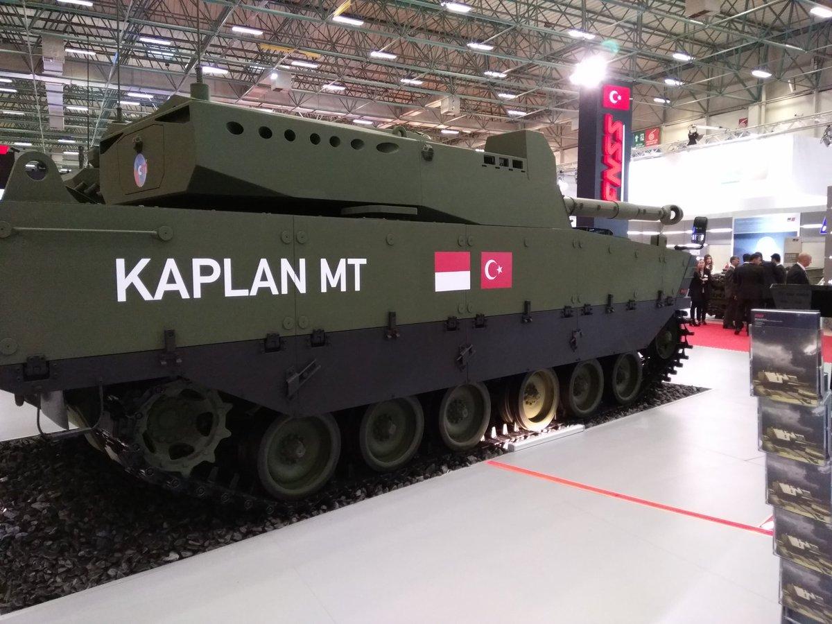 تركيا تكشف عن الدبابه Kaplan MT لأول مرة خلال معرض إسطنبول للصناعات الدفاعية C_XkWQZXUAA6TQw