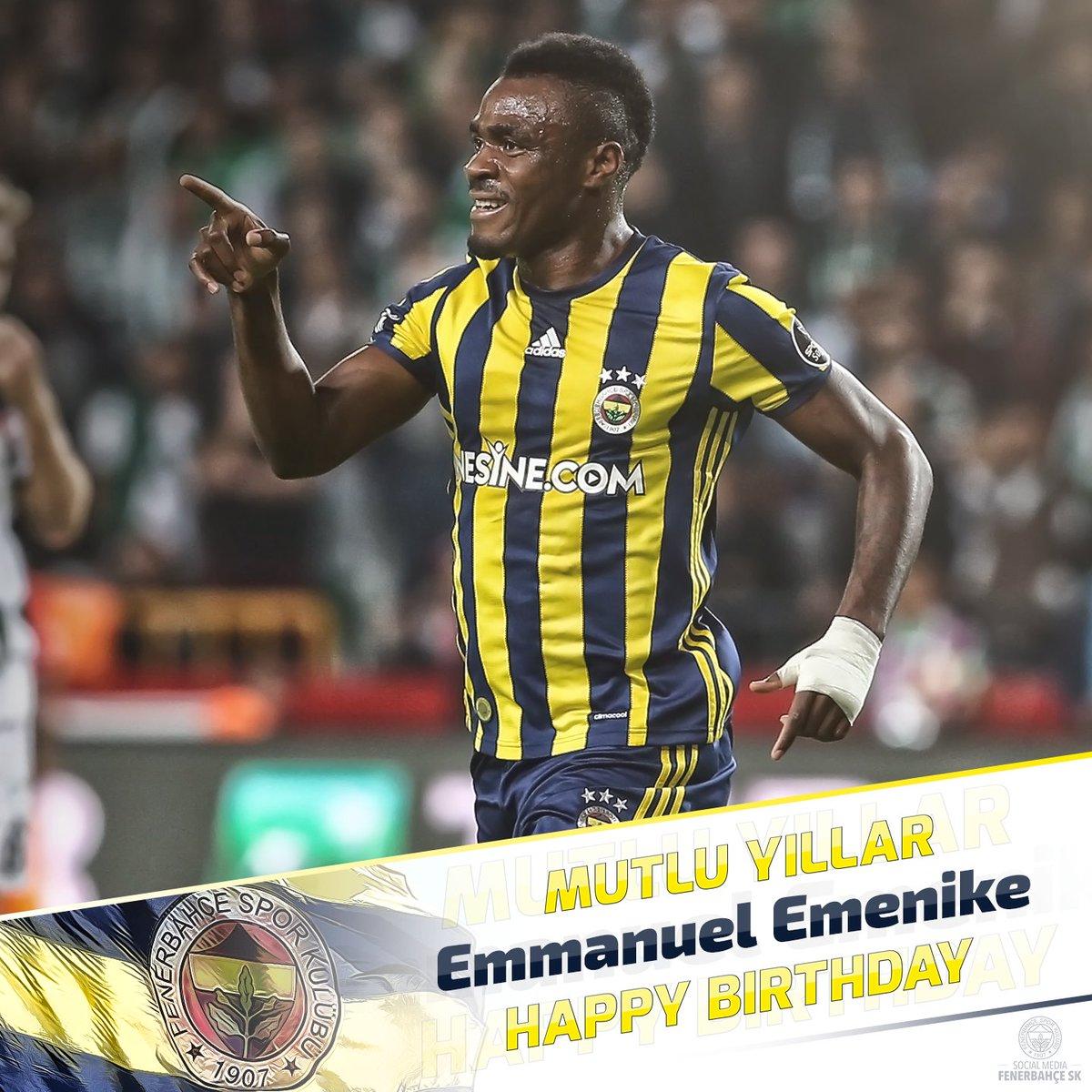 "Fenerbah§e SK on Twitter ""Bugün oyuncumuz Emmanuel Emenike nin"