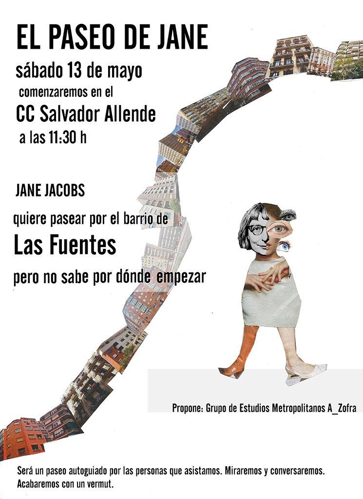 #AGENDA El #PaseodeJane, hoy en el barrio de Las Fuentes #Zaragoza con @a_zofra: https://t.co/3Q95kWL6B2 https://t.co/0uc5hBiKnx