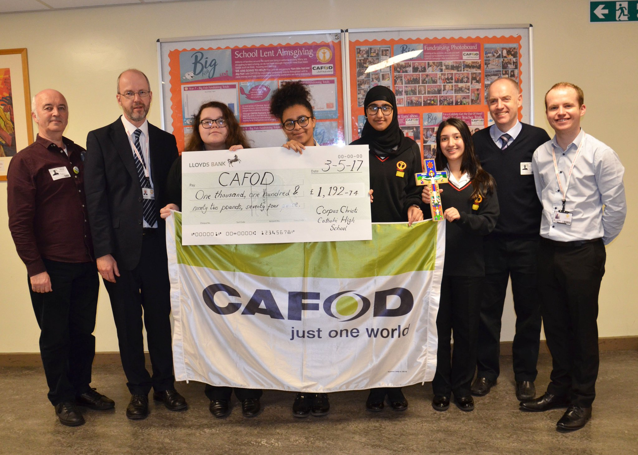 Phenomenal fundraising @CorpusChristiPR for @CAFOD #Lent appeal. Thank you to all staff & students for helping us transform lives this Lent. https://t.co/lun47PK3EY