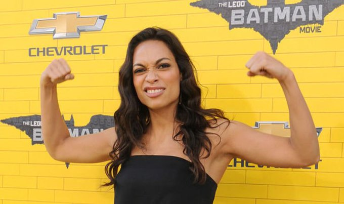 "Happy Birthday Rosario Dawson, 38! ""You only live once. You don\t want your tombstone to read: \Played it Safe.\\"""