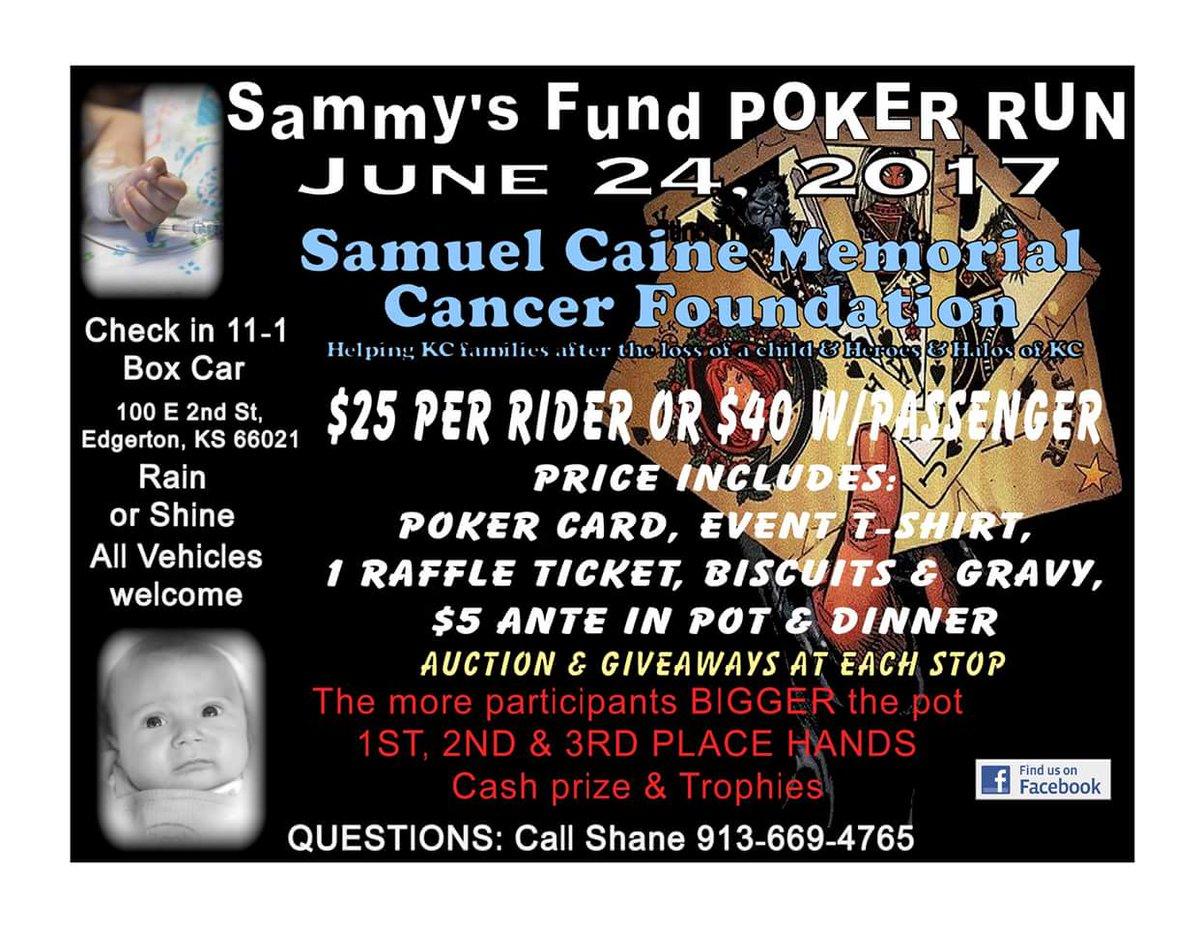 Sammy's Fund Poker Run Edgerton Kansas bikers motorcycle charity event