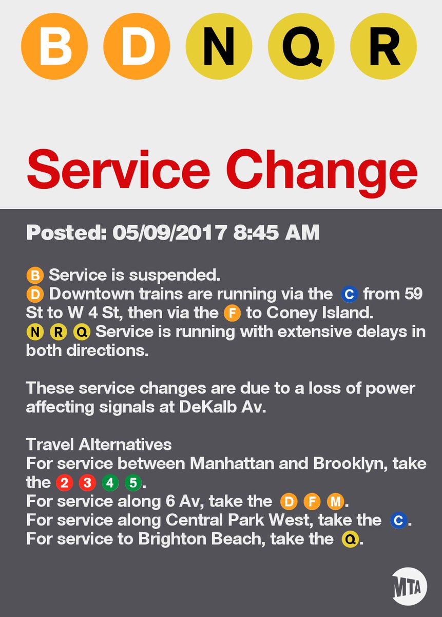 """NYCT Subway ar Twitter: """"UPDATED: See service changes and"""