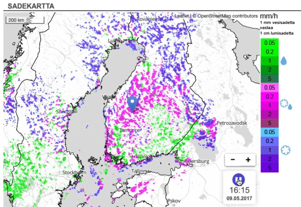 Foreca Suomi على تويتر Varikas Kartta Kuurosateet Ovat