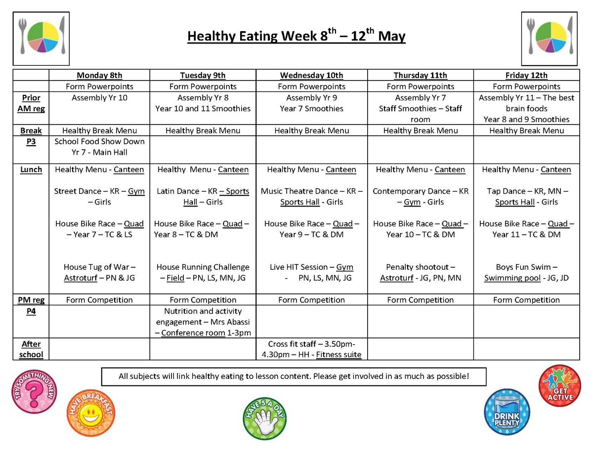 worksheet Healthy Eating Worksheets For High School denbigh high school on twitter healthy eating week this denbighhigh check out weeks timetable of events get active a