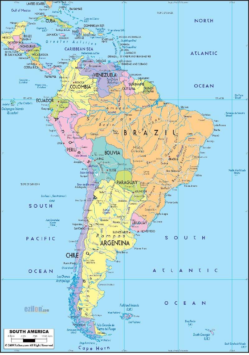 Ezilon Maps Ezilonmaps Twitter - American continent map