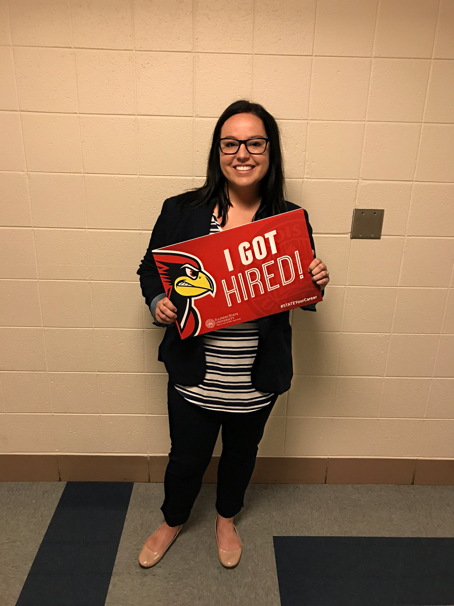 Congratulations to construction mgmt. major, Jordyn Cikesh. She has been hired at BUILTECH as a project engineer!! #STATEYourCareer https://t.co/iYqhNLl5iD