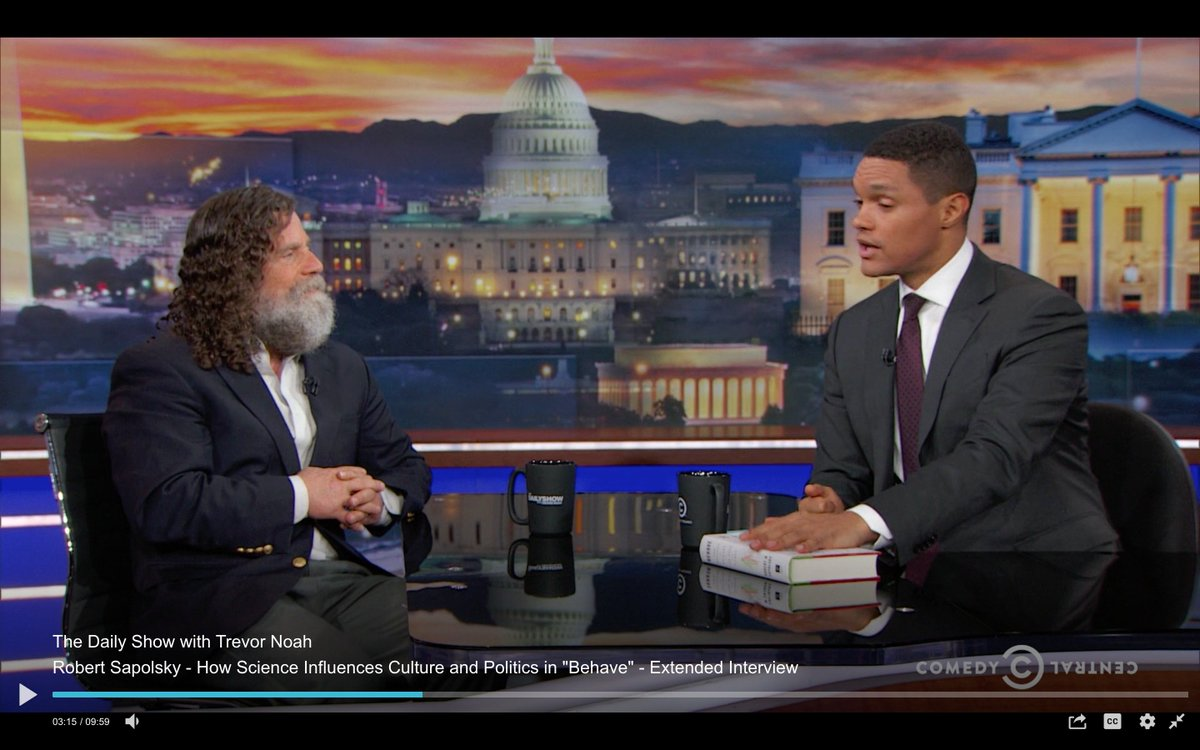 ... -daily-show-with-trevor-noah-robert-sapolsky---how-science-influences-culture-and-politics-in--behave----extended-interview …pic.twitter.com/18JZNxzHjN