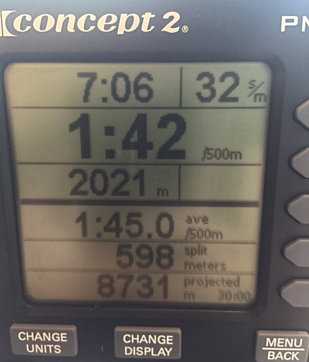 2000 meter row A fit man, weighing 185 pounds, that rows for 1 hour will burn less calories than   when rowing in steady-state you can row for a much longer time but your heart   i consume around 1800-2000 calories a day but exercise to burn around a.