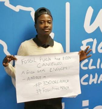 """I personally joined the divestment campaign in my campus because I wanted to see change"" -  Andile Mngoma. #FossilFree #GDMAFRICA2017 https://t.co/zOWFyG6KeT"