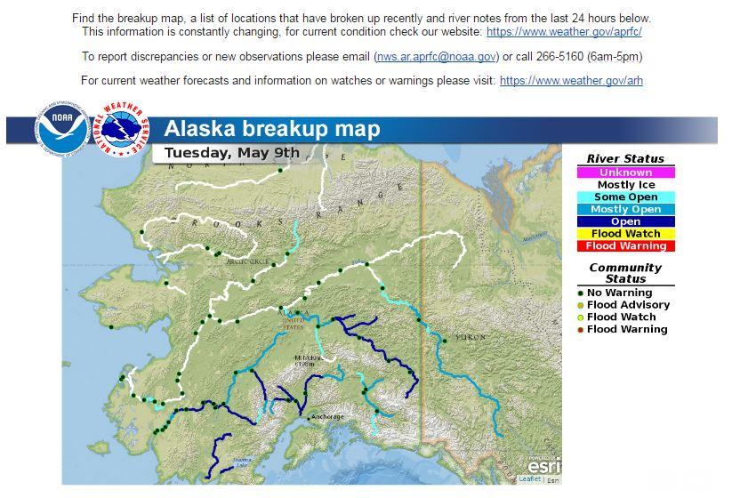 Yukon River Breakup YukonRiverBrkup Twitter - Yukon river map