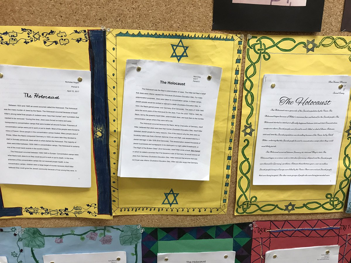 holocaust research paper grade 7 A lesson plans page lesson plan, lesson idea, thematic unit, or activity in language arts and social studies called writing about the holocaust, research report.