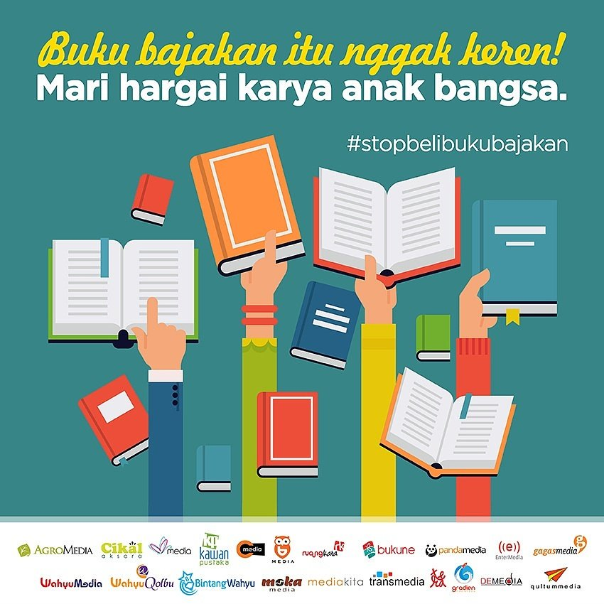 Image result for buku bajakan