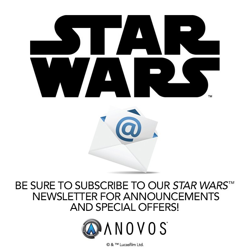 Subscribe to our newsletter and select Star Wars as your interest:  http:// bitly.com/anovosnews  &nbsp;   #ANOVOS #StarWars<br>http://pic.twitter.com/gZDdcktysK