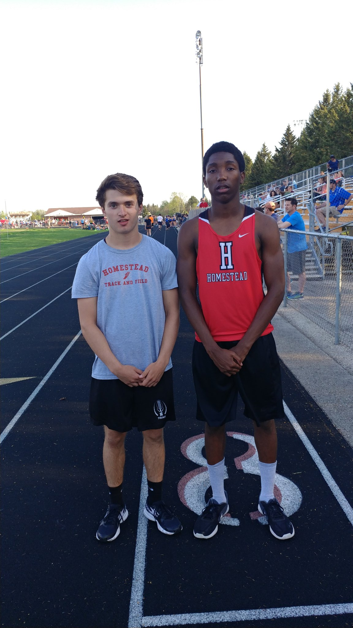 100 Meters Final. Junior Corey DeToro 11.14. Sophomore Willie Garrison 10.91. HHS #2 all-time https://t.co/1jnhIsJf20