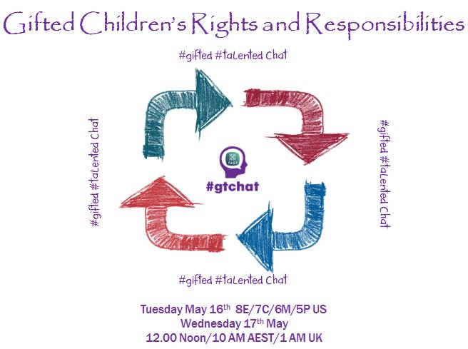 Thumbnail for #gtchat: Gifted Children's Rights and Responsibilities