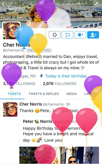 happy birthday Cher! Hope it was a fantastic day
