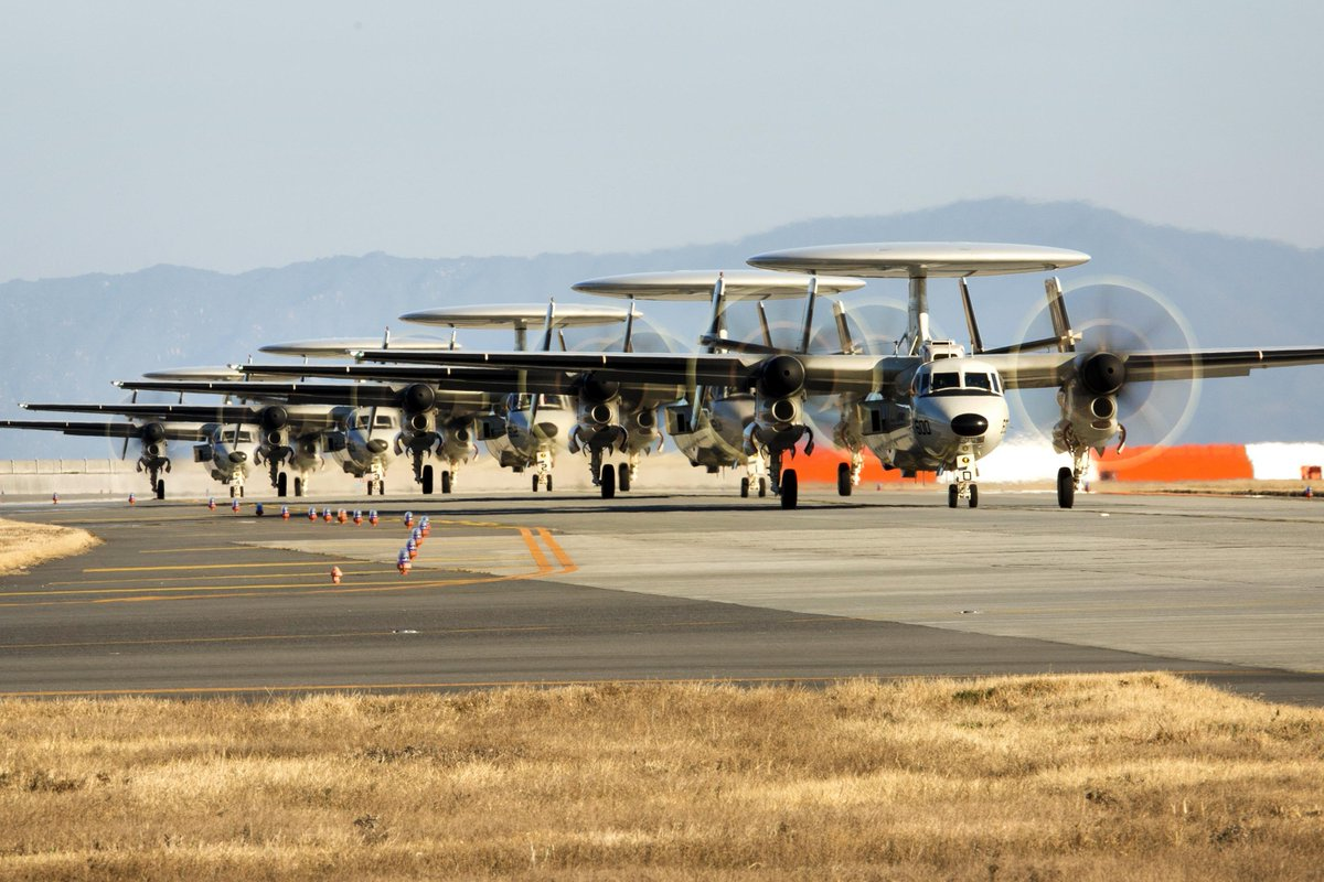 #USNavy has forward-deployed its newest airborne early warning and control aircraft, the E-2D Advanced Hawkeye, to Iwakuni.- Admiral Harris