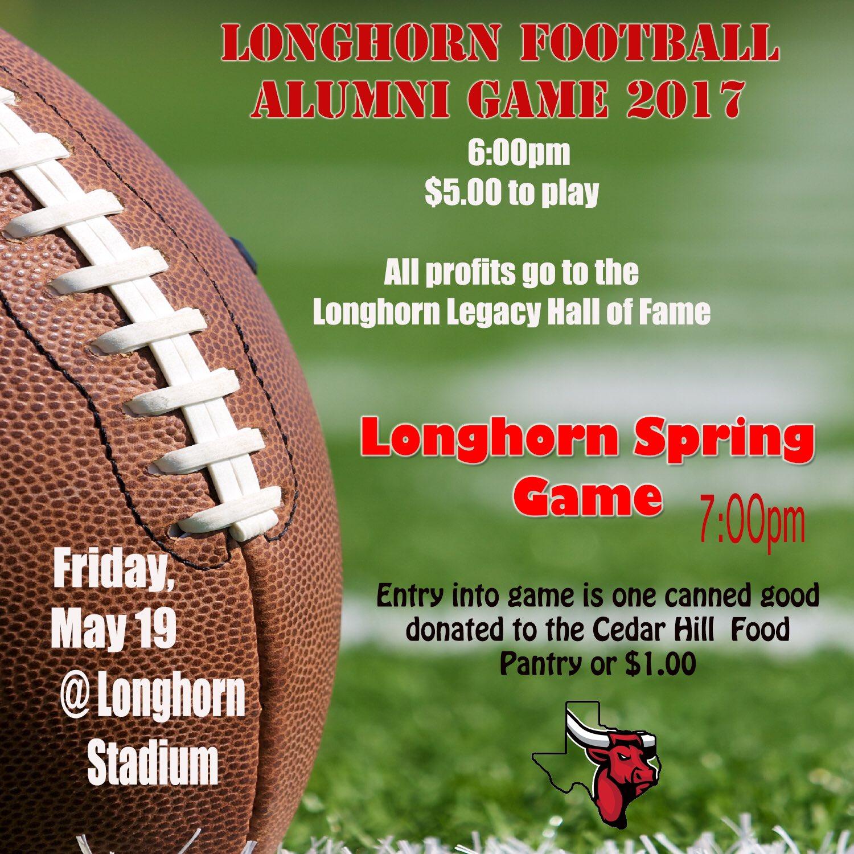 Cedar Hill Longhorns on Twitter Alumni game 600pm Spring
