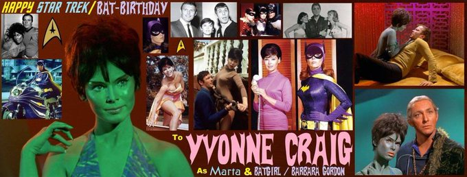 5-16 Happy birthday to the late Yvonne Craig.