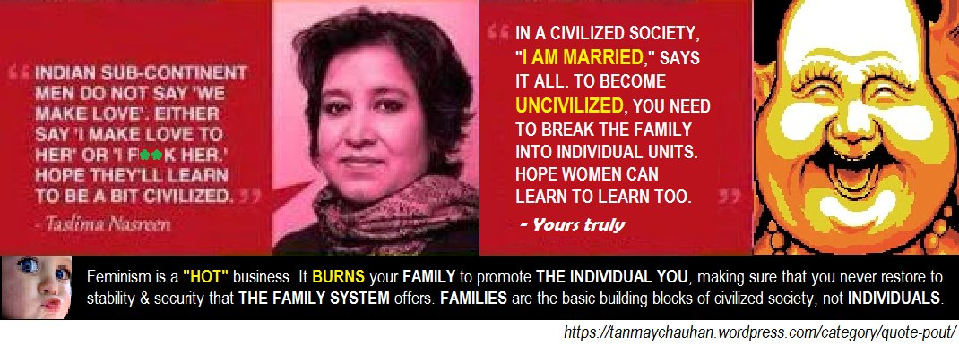 Taslima Nasreen on men quote replied by tanmay chauhan