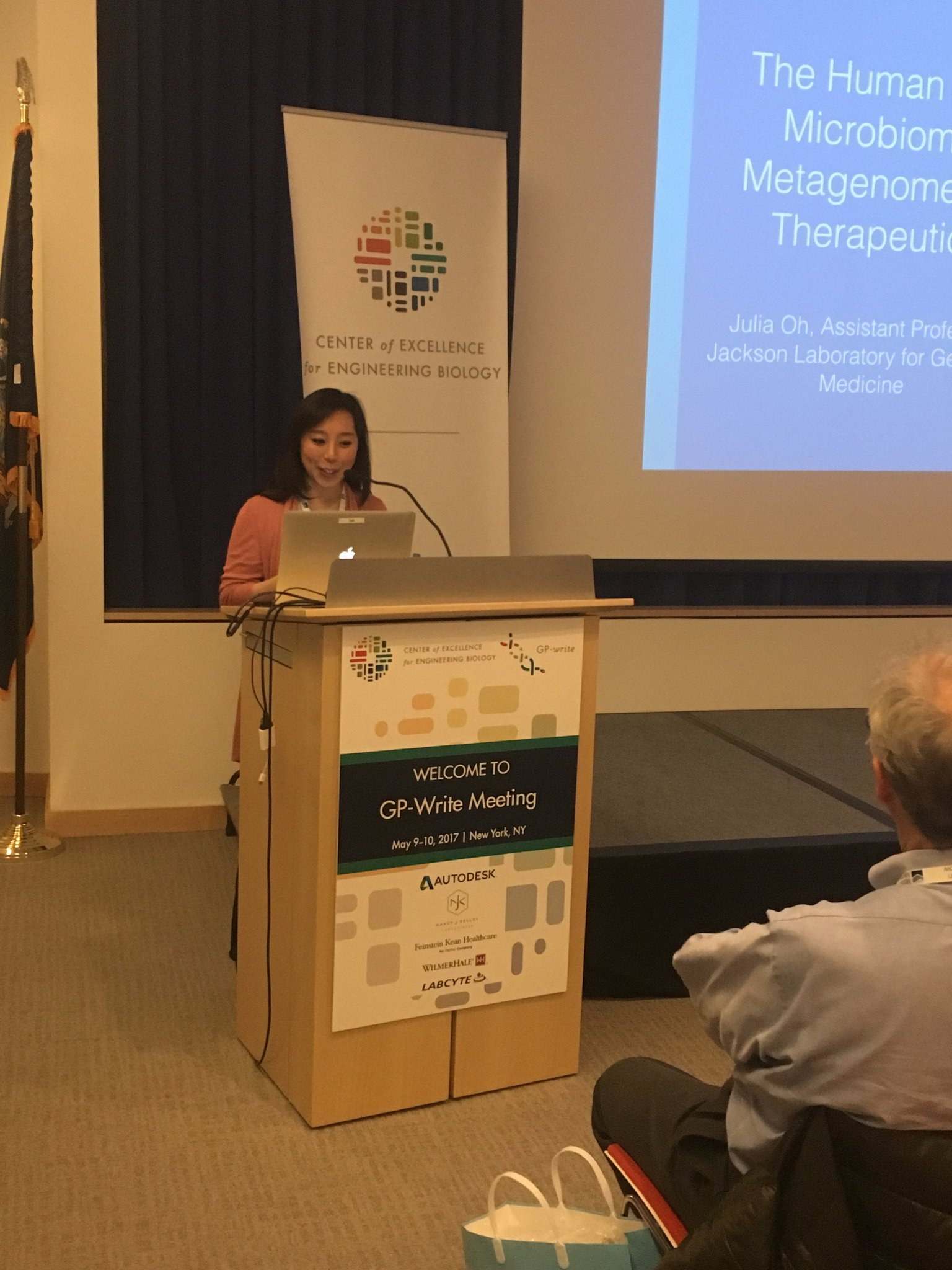 The Jackson Laboratory's @jjss0 discusses the human skin microbiome, from metagenomes to therapeutics. #GPwrite https://t.co/qAKO84q8Vm