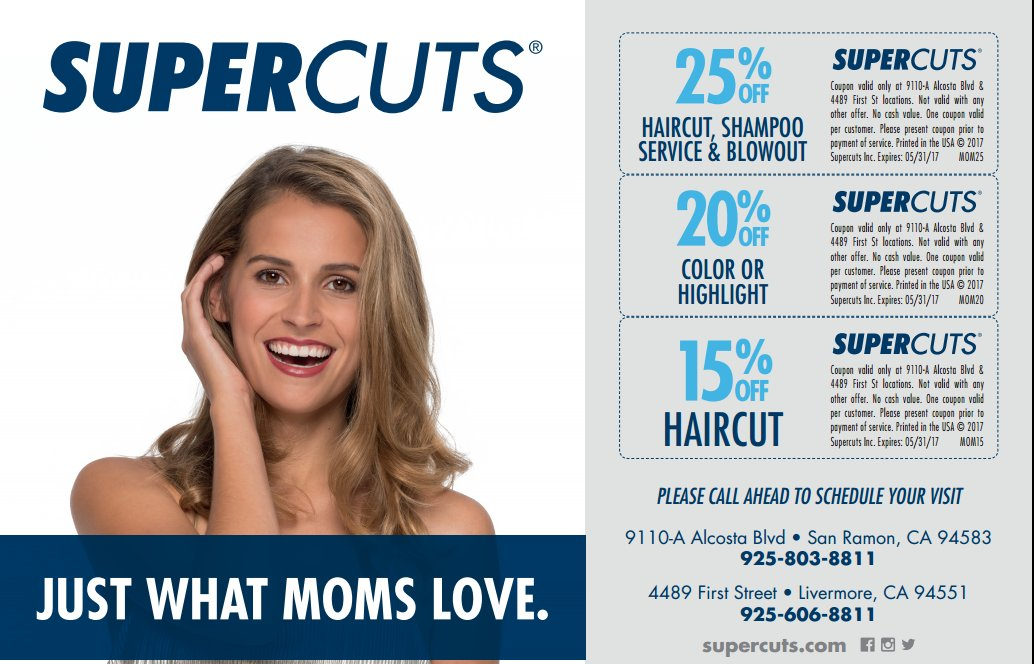 #mom#mothersday#mothersdayspecial#momdiscount#momsspecialday#haircut #blowout#color#lovemom#sanramon#supercuts#livermore pic.twitter.com/OhREzFZqg3