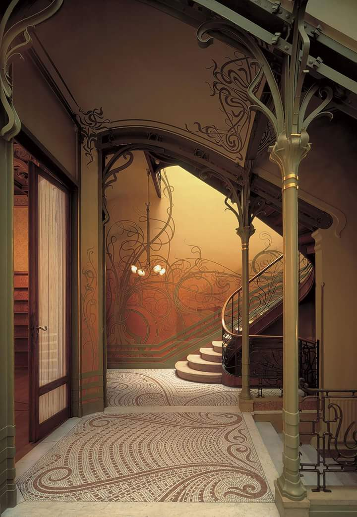 stairway designed by #VictorHorta in the Tassel House, Brussels #artnouveau<br>http://pic.twitter.com/qwChX6mYtC