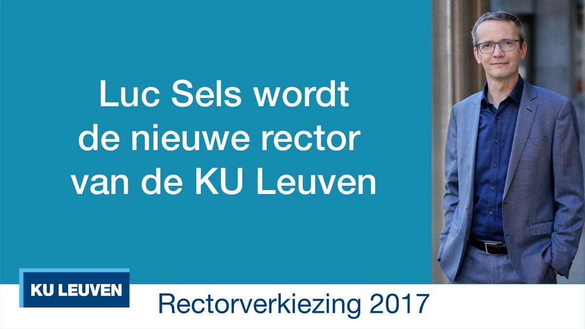 .@LucSels verkozen tot nieuwe rector KU Leuven #kuleuvenkiest https://t.co/T1jKAXuXIR