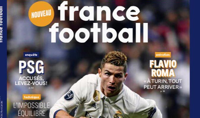 France Football: #CristianoRonaldo embalado al #BalónDeOro  http:// bit.ly/2prLwK7  &nbsp;  <br>http://pic.twitter.com/pZhd7TCD0f