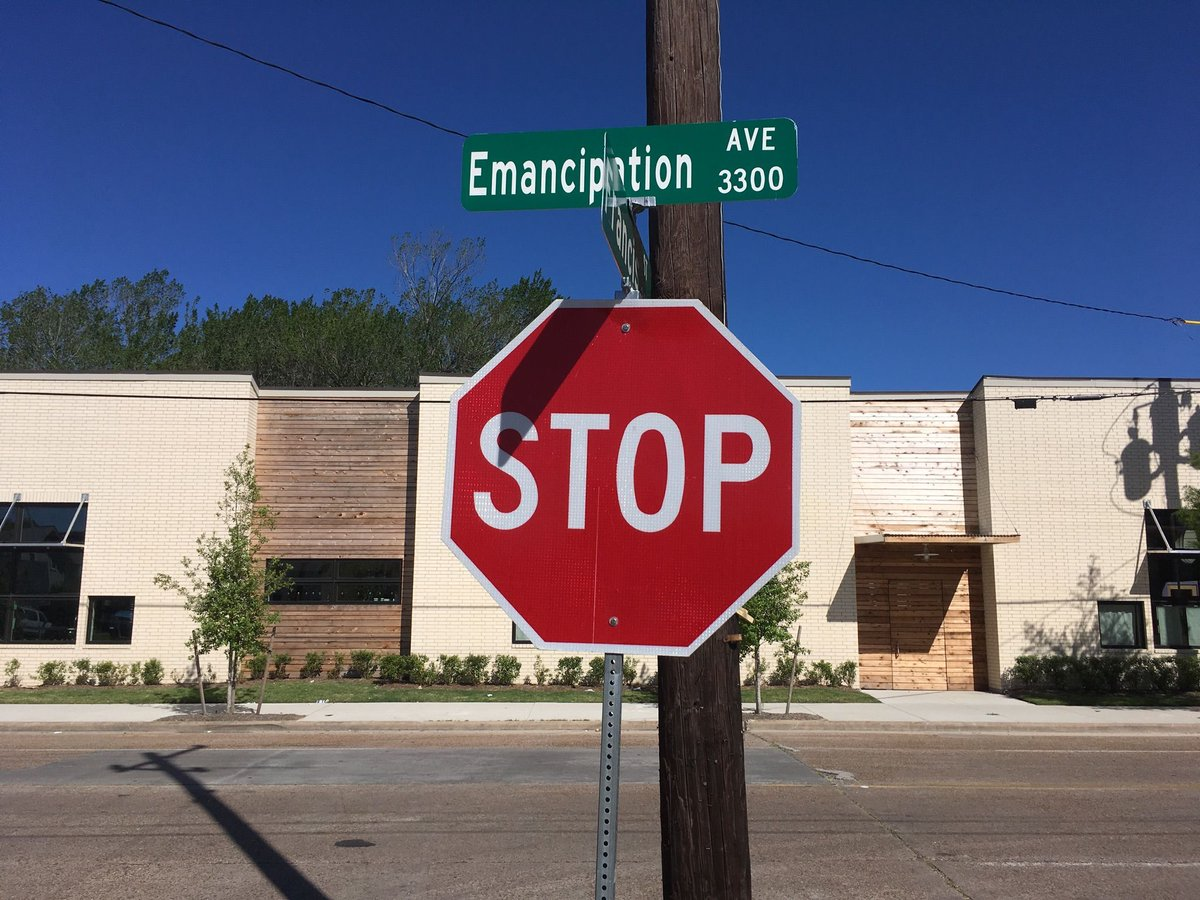Image result for Houston Emancipation Avenue street signs
