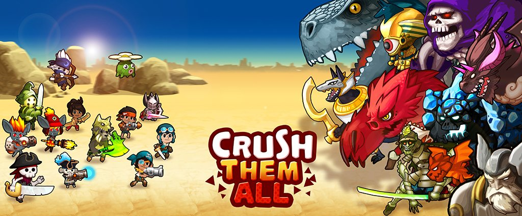 We are launching Crush Them All on both iOS and Android May 11th.  https://t.co/UKZlpFRKb9 https://t.co/Q4q7X9O16T
