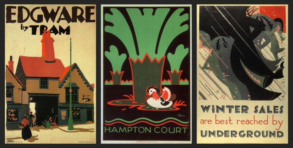 London Underground #posters from the 1920s bit.ly/2q3DzNe #DesignHistory