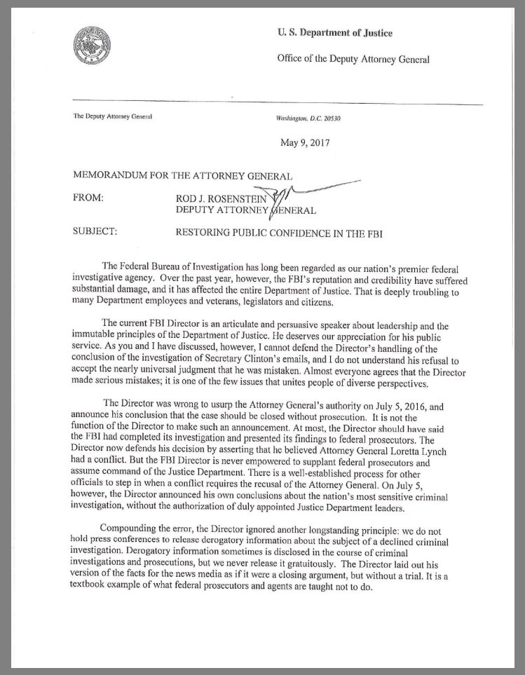 "sahil kapur on twitter: ""full letter from deputy ag rod rosenstein"