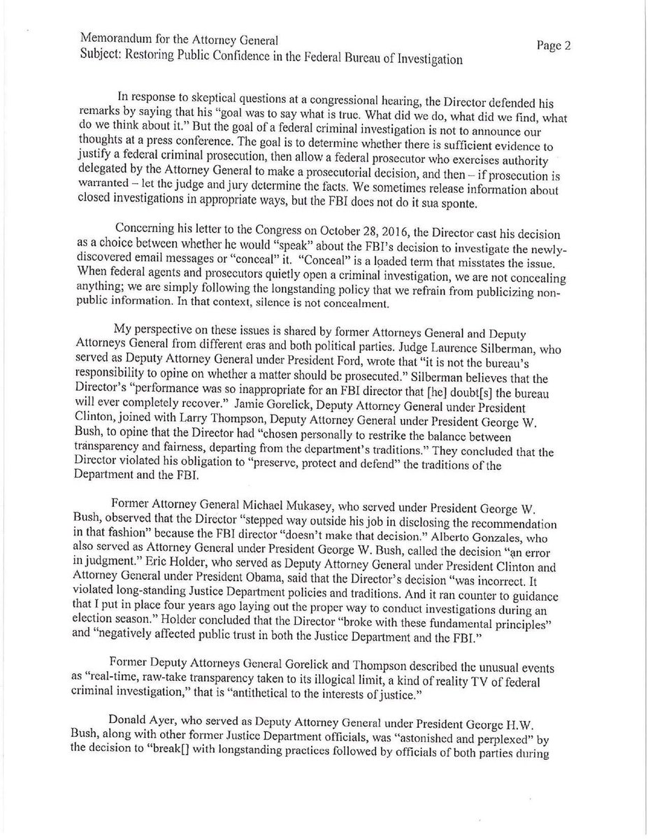 @SenFeinstein MORE: Deputy Atty. General Rod Rosenstein's letter recommending removing FBI Dir Comeyhttps://t.co/Gsk9YFSPLx  https://t.co/p