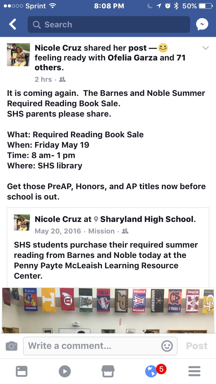 #txlchat Q1. Host a book fair promoting the required summer reading for Honors and AP courses. Promote it on social media. https://t.co/dyKydFXLun