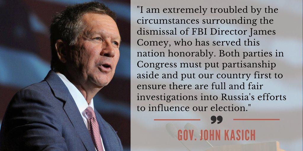 Gov. John Kasich statement on James Comey https://t.co/Wrwj6sGqnz