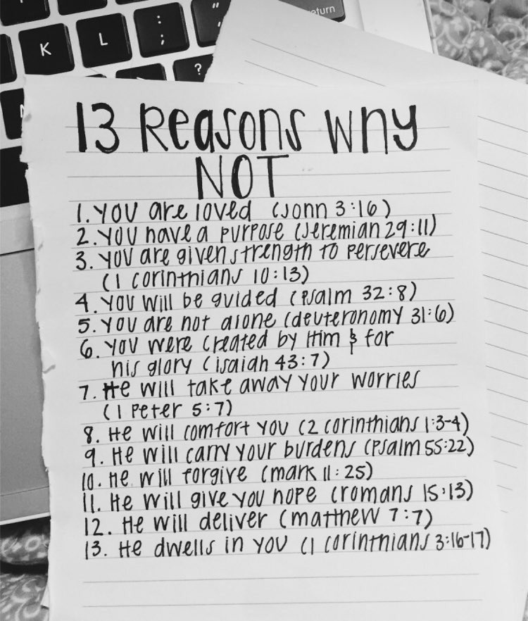 13 Reasons Why Not ❤️ https://t.co/PEjRtNj3c6