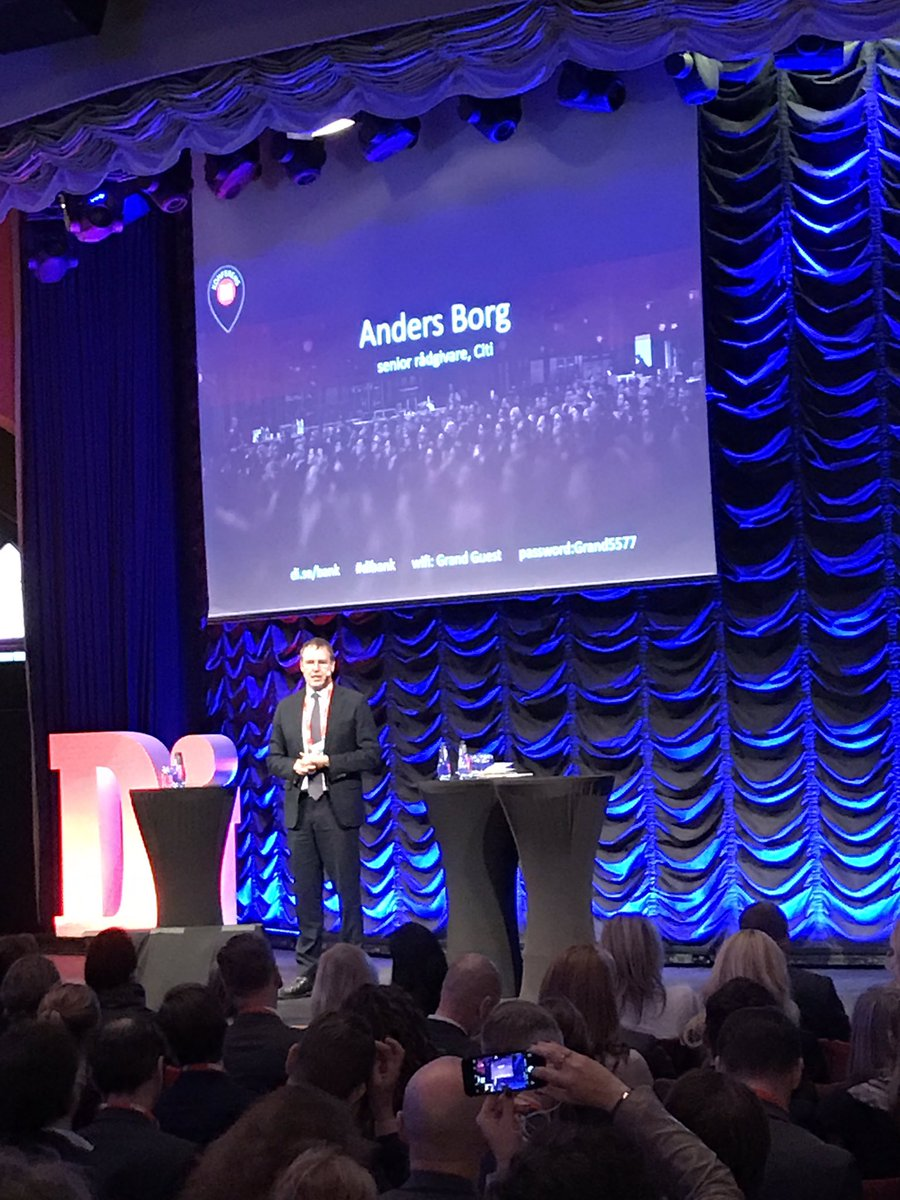 Anders Borg takes the stage at #dibank https://t.co/IZn4Dm44Ob