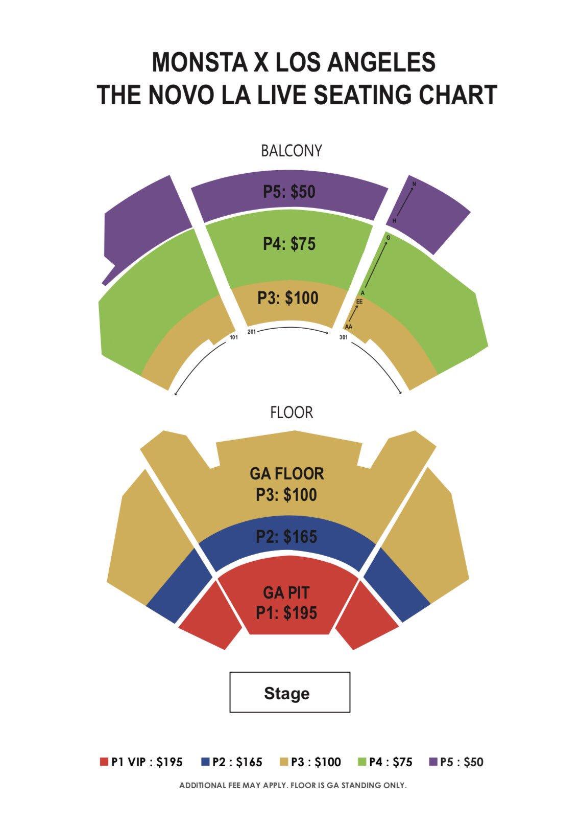 Novo Theatre Seating Chart