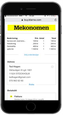 mekonomen service pris