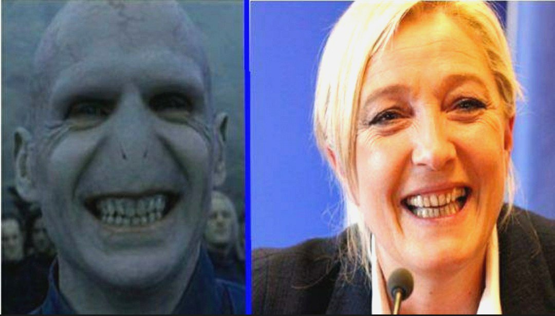 Because she really deserves it. (Sorry for that noseless person...)) #MLP #marine #FN  #Presidentielle2017  #NONauFN #Fhaine #StopFacism<br>http://pic.twitter.com/BYZpFeNlxv