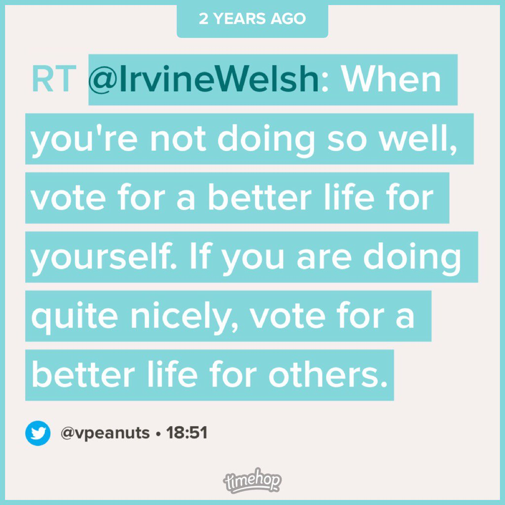Wise words from @IrvineWelsh https://t.co/DEI8H10qJO