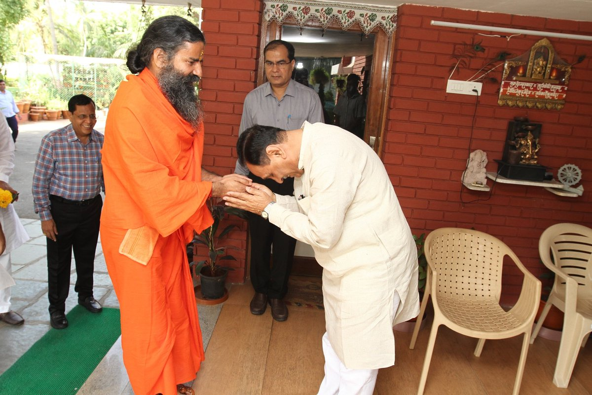 Baba Ramdev to set up research center for promotion and progeny of desi cows in Gujarat