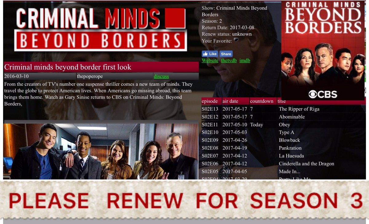 criminal minds beyond borders imdb