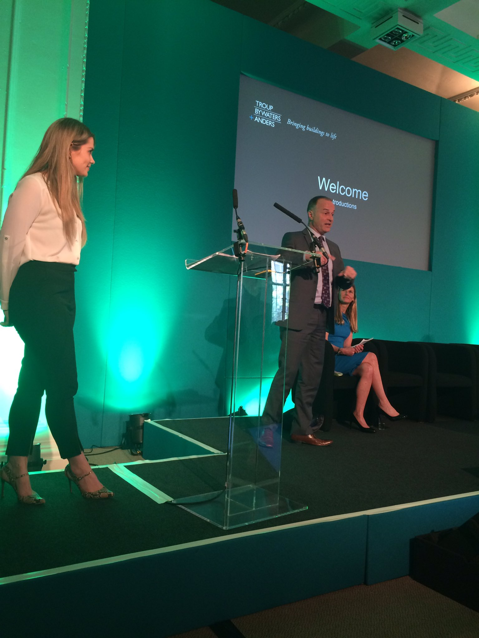 #cipdldshow Managing Partner Peter Anderson & HR Manager Claire Oliver opening the @TroupBywaters Apprenticeship presentation @CIPD_Events https://t.co/fATw5sjgWA