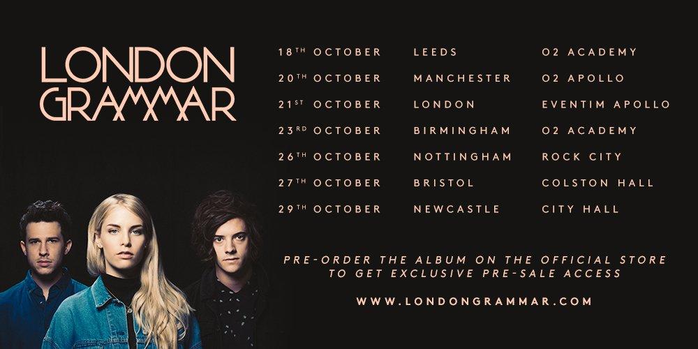 London Grammar Tour Dates
