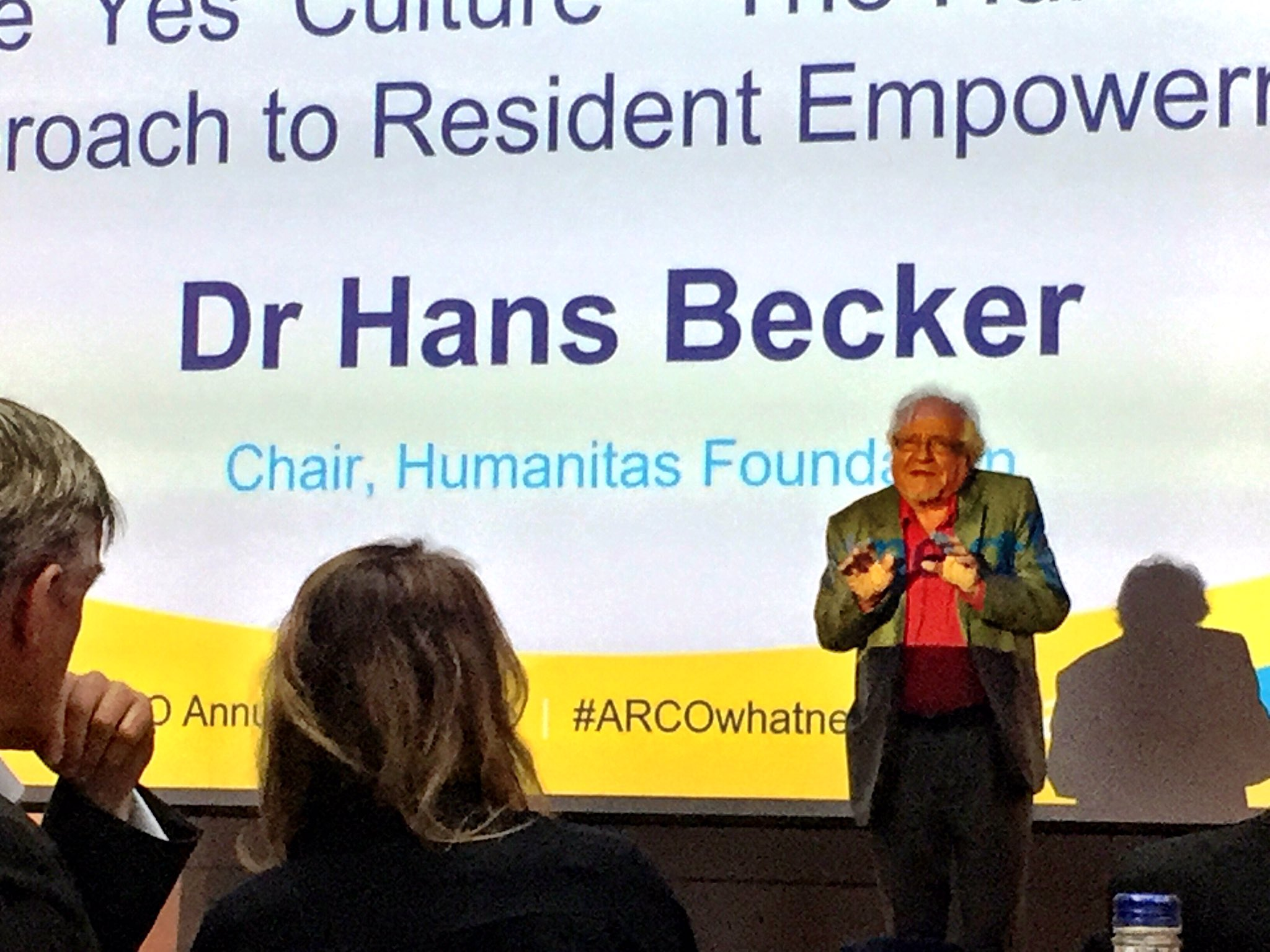 The eminent Dr Hans Becker - the ' Yes' culture for Older People  #arco17 https://t.co/osa08UHWRb