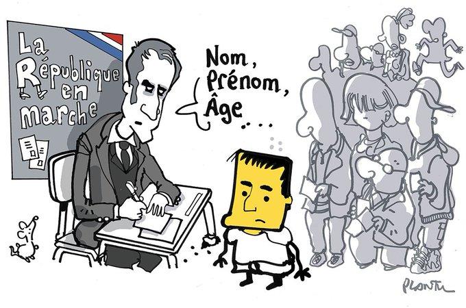 LA REPUBLIQUE EN MARCHE et Valls.  Le dessin du Monde de ce mercredi 10 mai.
