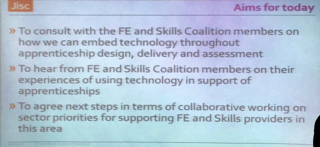 @Jisc session started and welcome from @sarahknight #FELTAG https://t.co/pp2bhB56B6